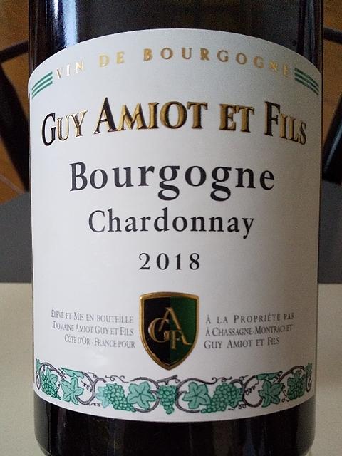 Guy Amiot et Fils Bourgogne Chardonnay(ギイ・アミオ・エ・フィス ブルゴーニュ シャルドネ)