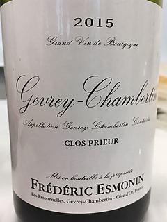 Frédéric Esmonin Gevrey Chambertin Clos Prieur
