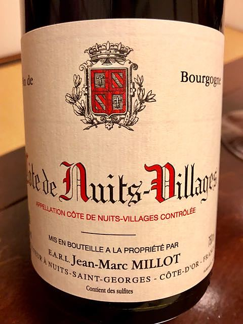 Jean Marc Millot Côte de Nuits Villages(ジャン・マルク・ミヨ コート・ド・ニュイ・ヴィラージュ)