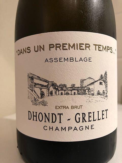 Dhondt Grellet Dans un Premier Temps Extra Brut(ドント・グルレ ダン・ザン・プルミエ・タン エクストラ・ブリュット)