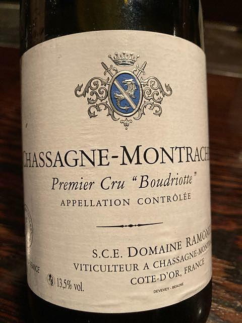 Dom. Ramonet Chassagne Montrachet 1er Cru Boudriotte Blanc(ドメーヌ・ラモネ シャサーニュ・モンラッシェ プルミエ・クリュ ブードリオット ブラン)