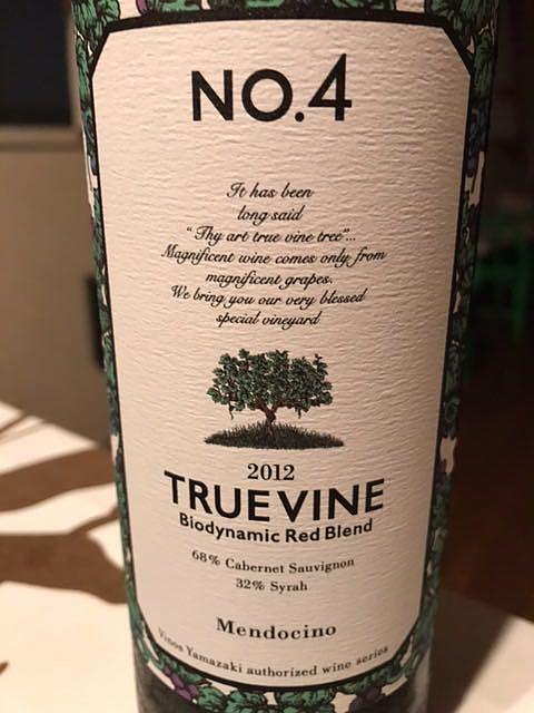 True Vine No.4 Biodynamic Red Blend(トゥルー・ヴァイン バイオダイナミック レッド・ブレンド)