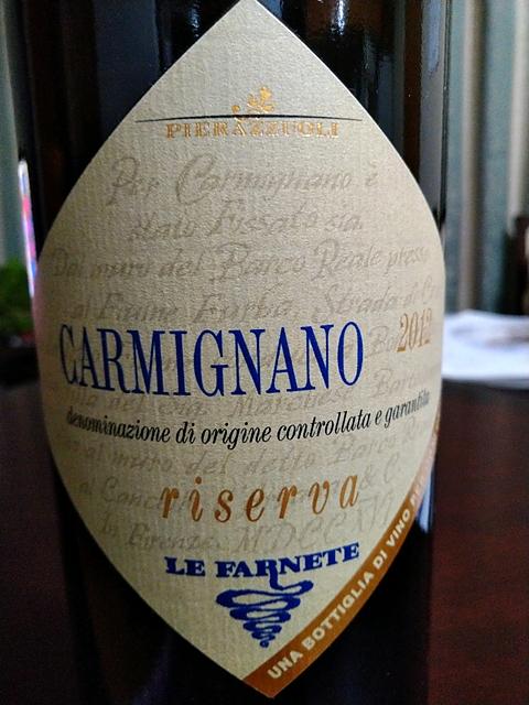 Pierazzuoli Le Farnete Carmignano Riserva(ピエラッツォーリ レ・ファルネーテ カルミニャーノ リゼルヴァ)