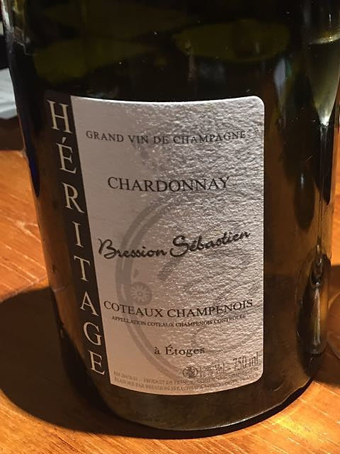 Bression Sebastien Héritage Coteaux Champenois Chardonnay(ブレシオン・セバスチャン エリタージュ コトー・シャンプノワ シャルドネ)