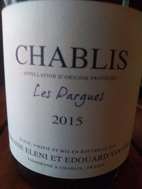 Dom. Eleni et Edouard Vocoret Chablis Les Pargues(ドメーヌ・エレーニ・エ・エドワール・ヴォコレ シャブリ レ・パルグ)
