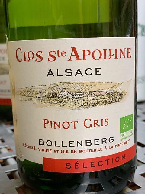 Bollenberg Clos Ste Apolline Pinot Gris Sélection
