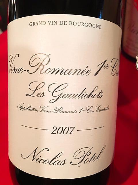 Nicolas Potel Vosne Romanée 1er Cru Les Gaudichots(ニコラ・ポテル ヴォーヌ・ロマネ プルミエ・クリュ レ・ゴーディショ)