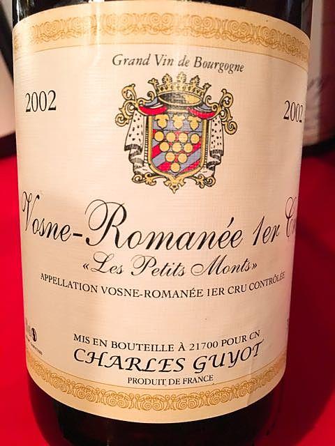Charles Guyot Vosne Romanée 1er Cru Les Petits Monts