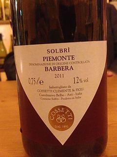 Cossetti Solbri Piemonte Barbera