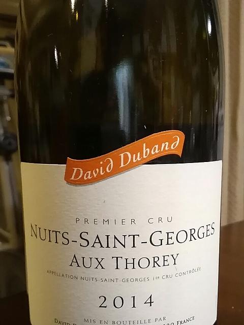 David Duband Nuits Saint Georges 1er Cru Aux Thorey(ダヴィド・デュバン ニュイ・サン・ジョルジュ プルミエ・クリュ オー・トレイ)