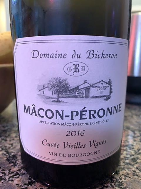 Dom. du Bicheron Mâcon Péronne Cuvée Vieilles Vignes(ドメーヌ・デュ・ビシュロン マコン・ペロンヌ キュヴェ・ヴィエイユ・ヴィーニュ)