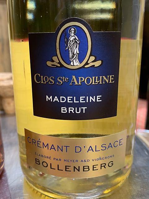 Bollenberg Clos Ste Apolline Crémant d'Alsace Madeleine Brut
