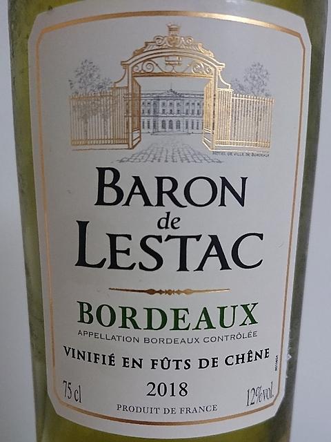 Baron de Lestac Bordeaux Blanc