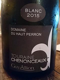 Guy Allion Dom. du Haut Perron Touraine Chenonceaux Blanc