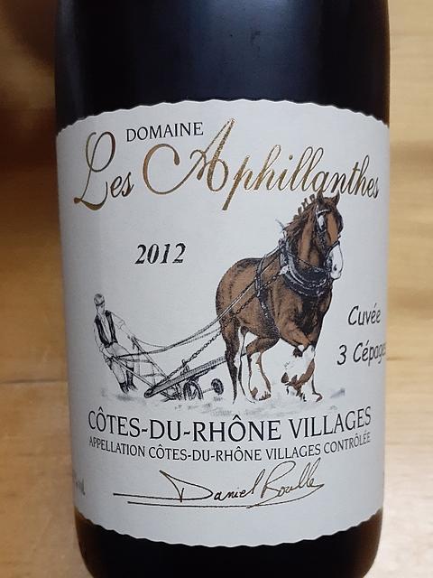 Dom. Les Aphillanthes Côtes du Rhône Villages Cuvée 3 Cépages