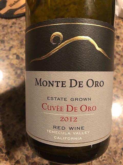 Monte de Oro Estate Grown Cuvée de Oro