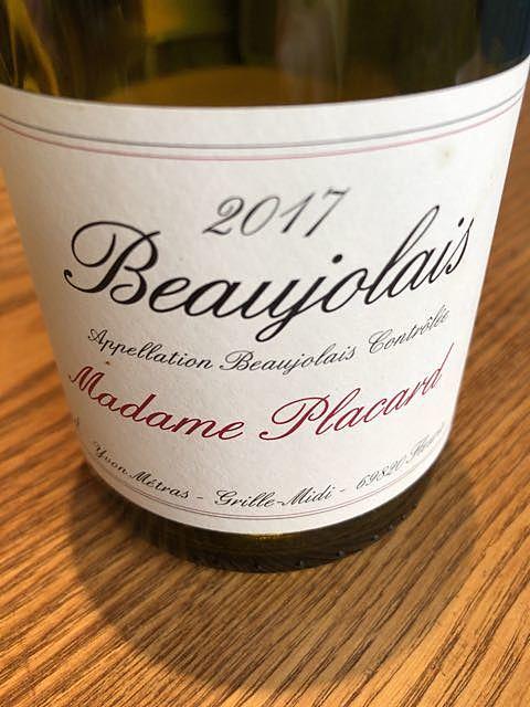 Madame Placard Beaujolais