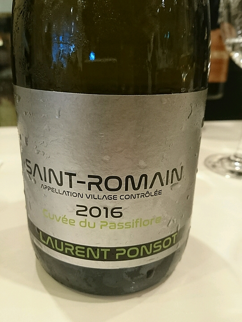 Laurent Ponsot Saint Romain Cuvée du Passiflore