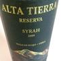 アルタ・ティエラ シラー レゼルヴァ(2009)