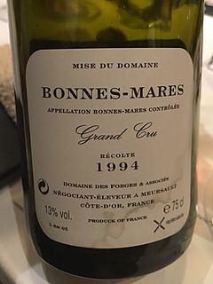Dom. des Forges et Associés Bonnes Mares Grand Cru(ドメーヌ・デ・フォルジュ・エ・アソシエ ボンヌ・マール グラン・クリュ)