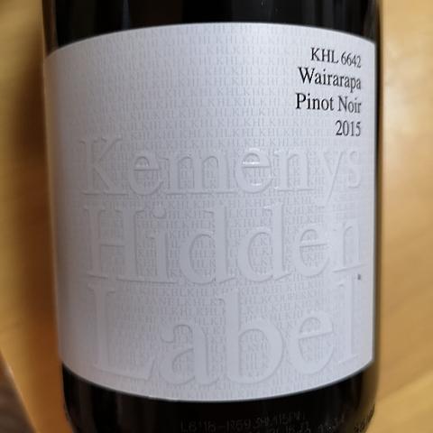 Kemenys Hidden Label KHL 6642 Wairarapa Pinot Noir
