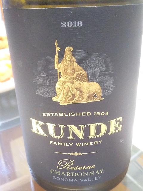 Kunde Reserve Chardonnay(カンデ リザーヴ シャルドネ)