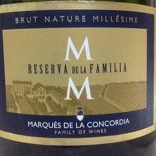 Marqués de la Concordia Reserva de la Familia Brut Nature Millésime(マルケス デ・ラ・コンコルディア レセルバ・デ・ラ・ファミリア ブリュット・ナチュール ミレジメ)