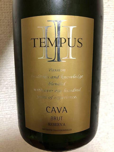 Tempus III Cava Brut Reserva(テンプス トレス カヴァ ブリュット レゼルヴァ)