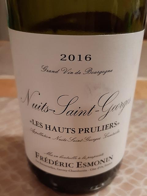 Frédéric Esmonin Nuits Saint Georges Les Hauts Pruliers