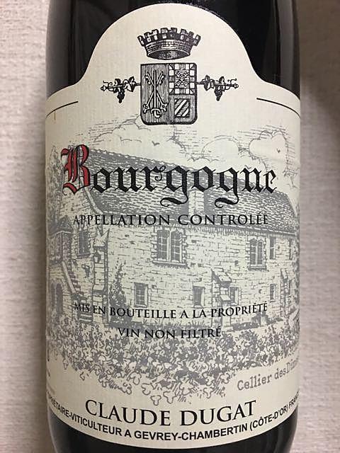 Claude Dugat Bourgogne Rouge(クロード・デュガ ブルゴーニュ ルージュ)