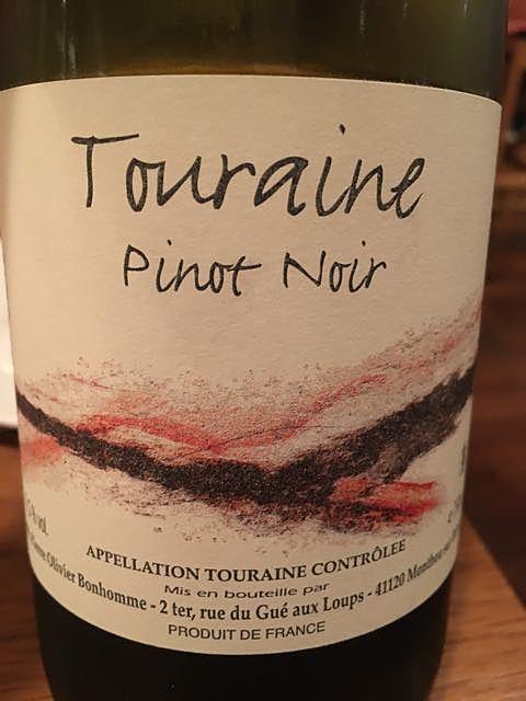 Pierre Olivier Bonhomme Touraine Pinot Noir