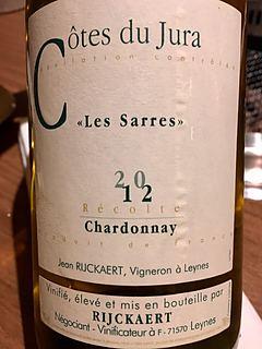 Jean Rijckaert Côtes du Jura Les Sarres Chardonnay