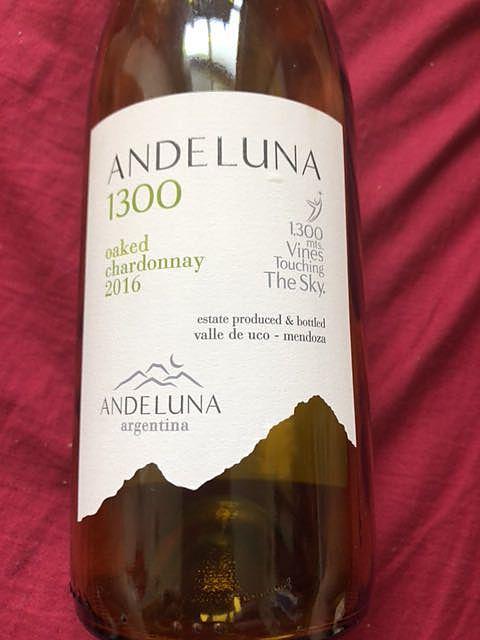 Andeluna 1300 Oaked Chardonnay(アンデルーナ 1300 オークド シャルドネ)