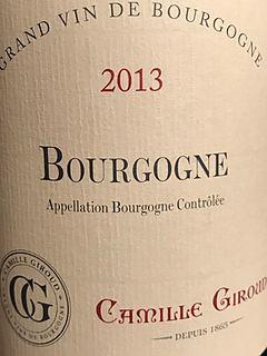 Camille Giroud Bourgogne Rouge