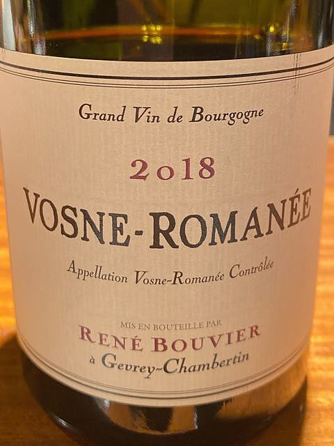 René Bouvier Vosne Romanée(ルネ・ブーヴィエ ヴォーヌ・ロマネ)