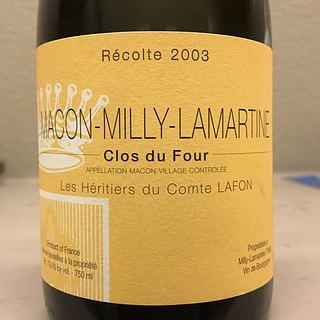 Les Héritiers du Comte Lafon Mâcon Milly Lamartine Clos du Four