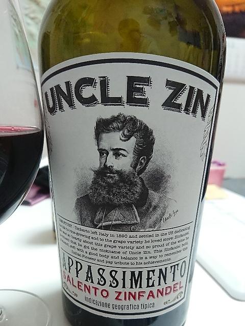 Uncle Zin Appassiment Salento Zinfandel(アンクル・ジン アパッシメント サレント ジンファンデル)