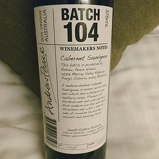 Winemakers Notes by Andrew Peace Batch 104