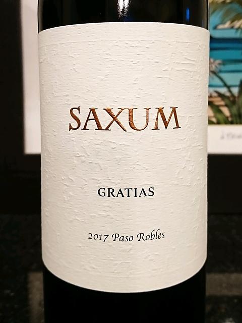 Saxum Gratias 2017(サクスム グラティアス)