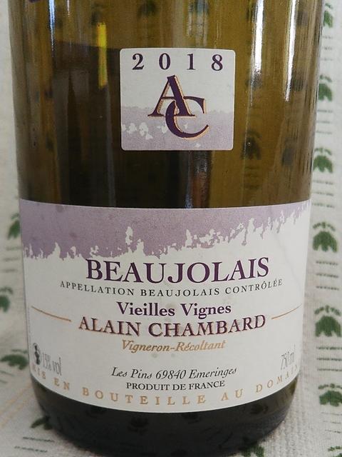 Alain Chambard Beaujolais Nouveau Vieilles Vignes(アラン・シャンバール ボージョレ・ヌーヴォー ヴィエイユ・ヴィーニュ)