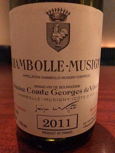 Dom. Comte Georges de Vogüé Chambolle Musigny(ドメーヌ・コント・ジョルジュ・ド・ヴォギュエ シャンボール・ミュジニー)