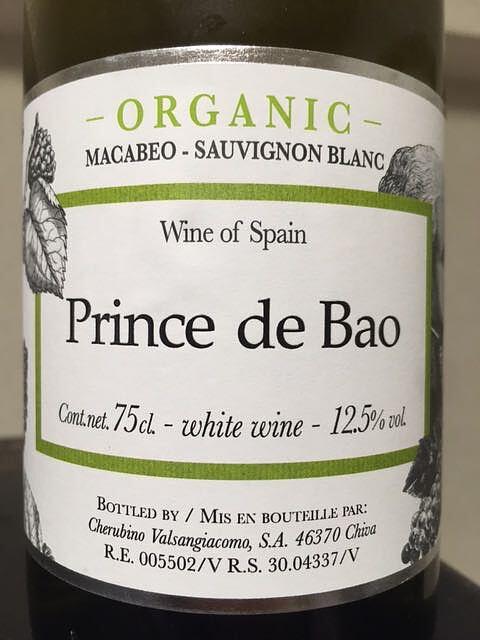 Prince de Bao Organic Blanco