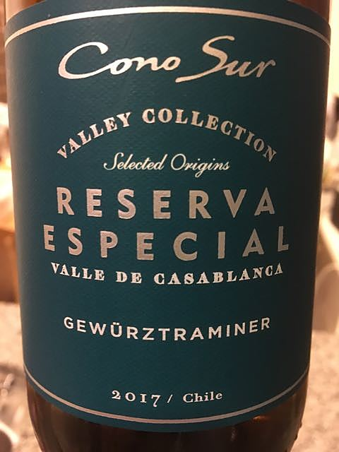 Cono Sur Reserva Especial Valley Collection Gewürztraminer(コノ・スル レゼルバ・エスペシャル ヴァレー・コレクション ゲヴュルツトラミネール)