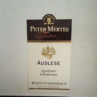 Peter Mertes Tradition Auslese Oppenheimer Krötenbrunnen