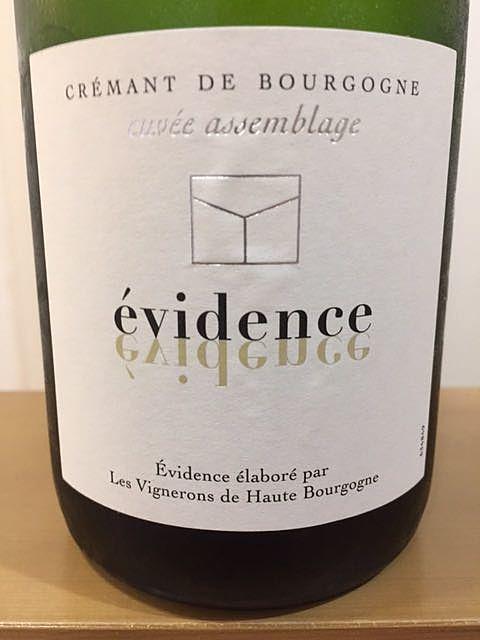 évidence Crémant de Bourgogne Cuvée Assemblage(エヴィダンス クレマン・ド・ブルゴーニュ キュヴェ・アッサンブラージュ)