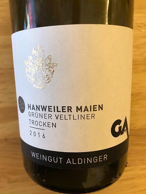 Aldinger Hanweiler Maien Grüner Veltliner trocken