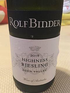 Rolf Binder Highness Riesling(ロルフ・ビンダー ヘリオス ハイネス リースリング)