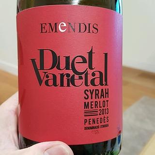 Emendis Duet Varietal Syrah Merlot
