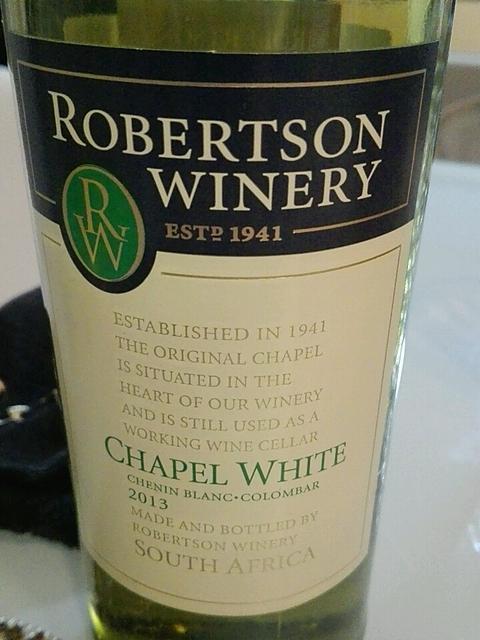 Robertson Winery Chapel White(ロバートソン・ワイナリー チャペル・ホワイト)