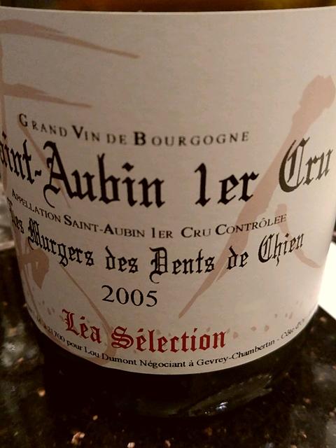 Lou Dumont Léa Sélection Saint Aubin 1er Cru Les Murgers des Dents de Chien(ルー・デュモン レア・セレクション サン・トーバン プルミエ・クリュ レ・ミュルジェ・デ・ダン・ド・シャン)